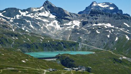 Glacier lake in Aosta Valley