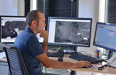 équipe imagerie radar VIGISAT