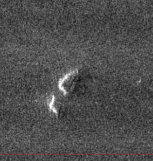 Radar image of an iceberg