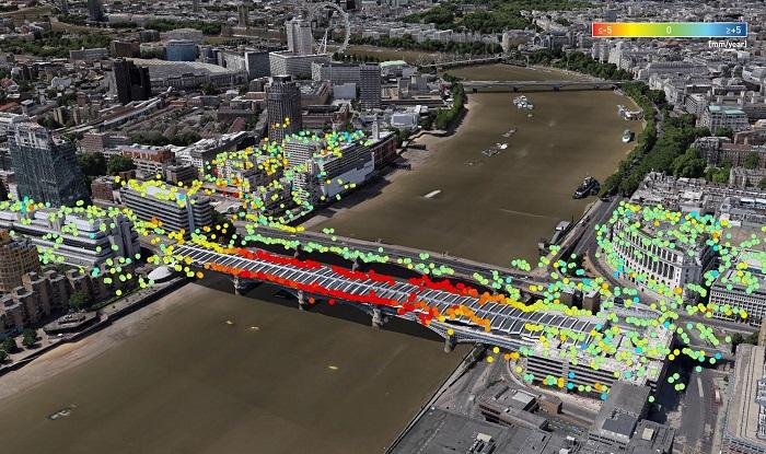 London Bridge InSAR image
