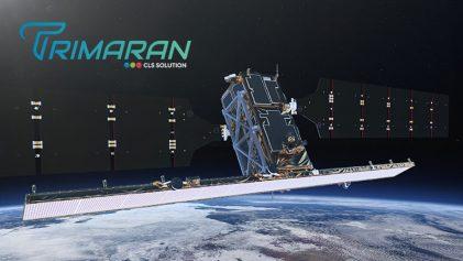 Satellite Sentinel-1 et logo Trimaran