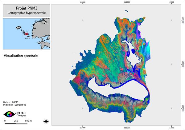 Vue spectrale de l'Archipel de Molène (France)
