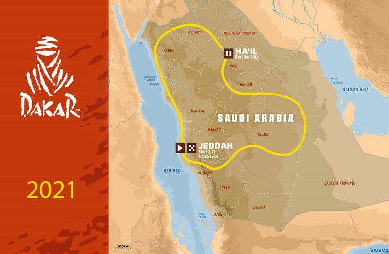 parcours Rallye Dakar 2021