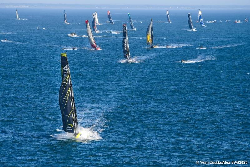 départ de la course du Vendée Globe 2020