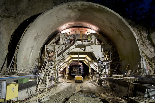 Tunnel construction site