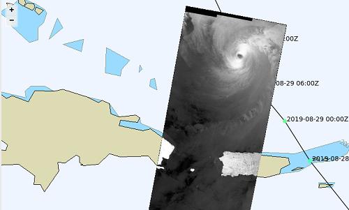 Hurricane Dorian Sentinel SAR imagery Copernicus.