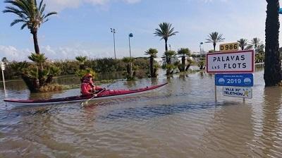 inondations à Palavas (France)