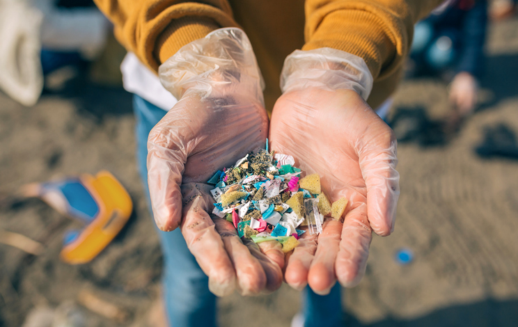 plastic pieces in hands