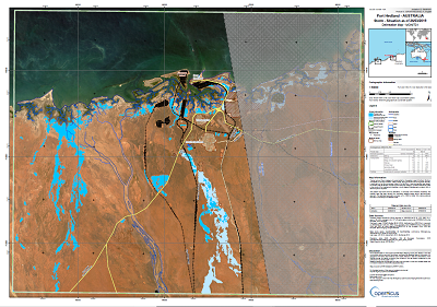 Port Hedland - Rapid Mapping product generated by SIRS