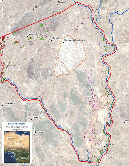 Carte de la région du Lac Tchad