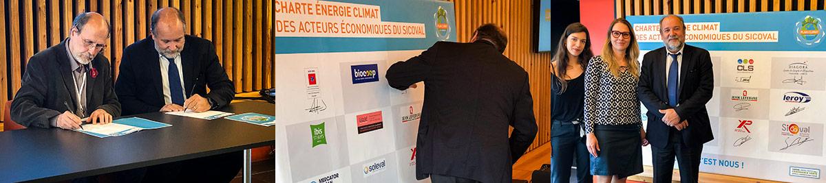 Signature charte climat entreprise