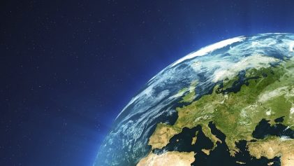 la Tierra, vista desde el espacio